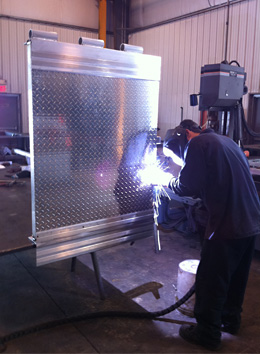 Welding at TimberStrong Manufacturing